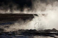 tatio för geysers för el för atacamachile öken Arkivbild
