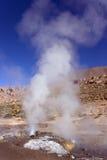 tatio för geysers för el för atacamachile öken Arkivfoton