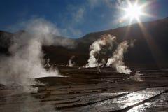 tatio för region för geyser för atacamael-fält Royaltyfri Bild