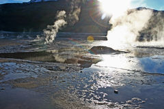 Tatio Gaysers Stock Foto