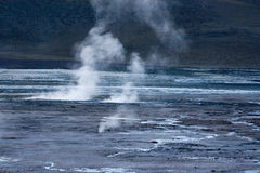Tatio gerysers Royalty Free Stock Images