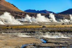 Tatio Geysers in Atacama Desert, Chile Royalty Free Stock Photo
