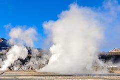 Tatio Geysers in Atacama Desert, Chile Stock Photos