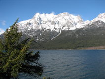 Tatlayoko lake. And niut mountains canada bc royalty free stock photos