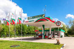 Tatneft gas station against the blue sky. Tatneft is one of the Royalty Free Stock Photography