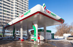 Tatneft gas station. Tatneft is one of the russian oil companies Royalty Free Stock Photos
