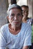 Tatoed kvinnor för haka stam, Myanmar Arkivbild