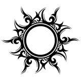 Tatoegering, abstracte zon, bloem Stock Afbeelding