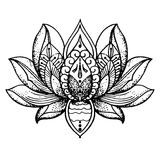 Tatoegering Lotus, Boeddhisme stock illustratie