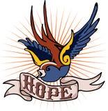 Tatoegering Robin & hoop Royalty-vrije Stock Foto's