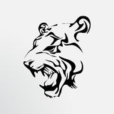 Tatoegering van een tijger royalty-vrije stock foto's