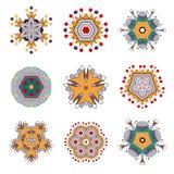 Tatoegeringsbloem Mandala Doodle Vector Designs stock illustratie