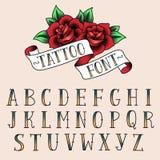 Tatoegeringsstijl alfabeth Stock Afbeeldingen