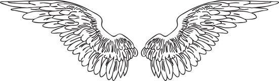 Tatoo φτερών ελεύθερη απεικόνιση δικαιώματος