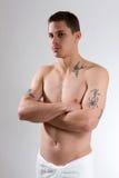 tatoo кормки человека Стоковая Фотография