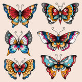 Tatoo butterflies Royalty Free Stock Photography