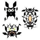 Vector set of stylized animals. Abstract animal pattern stock illustration