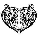Tatoo del cuore di Swirly ispirato Immagine Stock Libera da Diritti