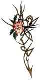 Tatoo flower symbol Stock Images