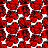 Tatoo Hearts Seamless Background Stock Photo