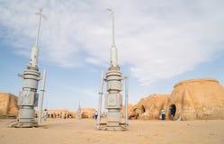 Tatooine planet landscape abandoned sets for shooting Star Wars