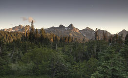 Tatoosh Range Pinnacle Castle Unicorn Boundary Plummers Peaks Stock Images
