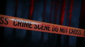 Tatort-Polizei nimmt Schleife 02 auf stock video