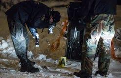 Tatort-Untersuchung Stockbild