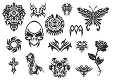 tatouage 2 réglé tribal illustration stock