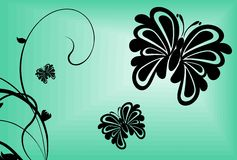 Tatouage background2 de papillon illustration libre de droits