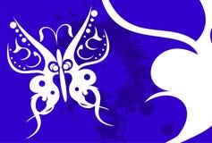 Tatouage background4 de papillon illustration stock