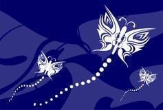 Tatouage background9 de papillon illustration stock