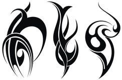 Tatouage décoratif dénommé illustration de vecteur