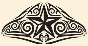 Tatouage d'étoile illustration stock