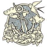 Tatouage d'ancre illustration libre de droits