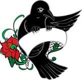 Tatouage d'oiseau Illustration de Vecteur