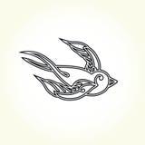 Tatouage d'oiseau d'hirondelle de vieille école Image libre de droits