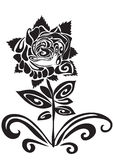 Tatouage d'une rose Photo stock