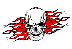 Tatouage de crâne de danger illustration de vecteur