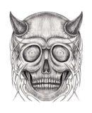 Tatouage de crâne de diable d'art illustration libre de droits