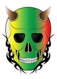 Tatouage de crâne de diable d'art illustration stock