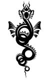 tatouage de dragon Images libres de droits