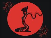 Tatouage de dragon rouge Images libres de droits