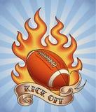 Tatouage de football américain illustration libre de droits
