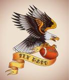 Tatouage de football américain illustration stock