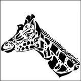 Tatouage de girafe pour la coloration, Photographie stock