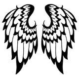 Tatouage de haute qualité d'ailes d'isolement sur le fond blanc Photos stock