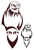 Tatouage de hibou Photos stock