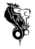 Tatouage de lion Photos stock