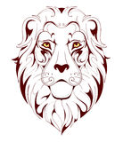 Tatouage de Lion Head Photo stock